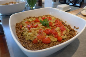 Tomato and lentil stew