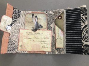 a prayer book featuring a rabbit