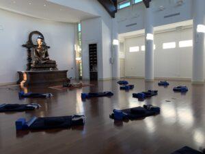 A Meditation Hall with cushions